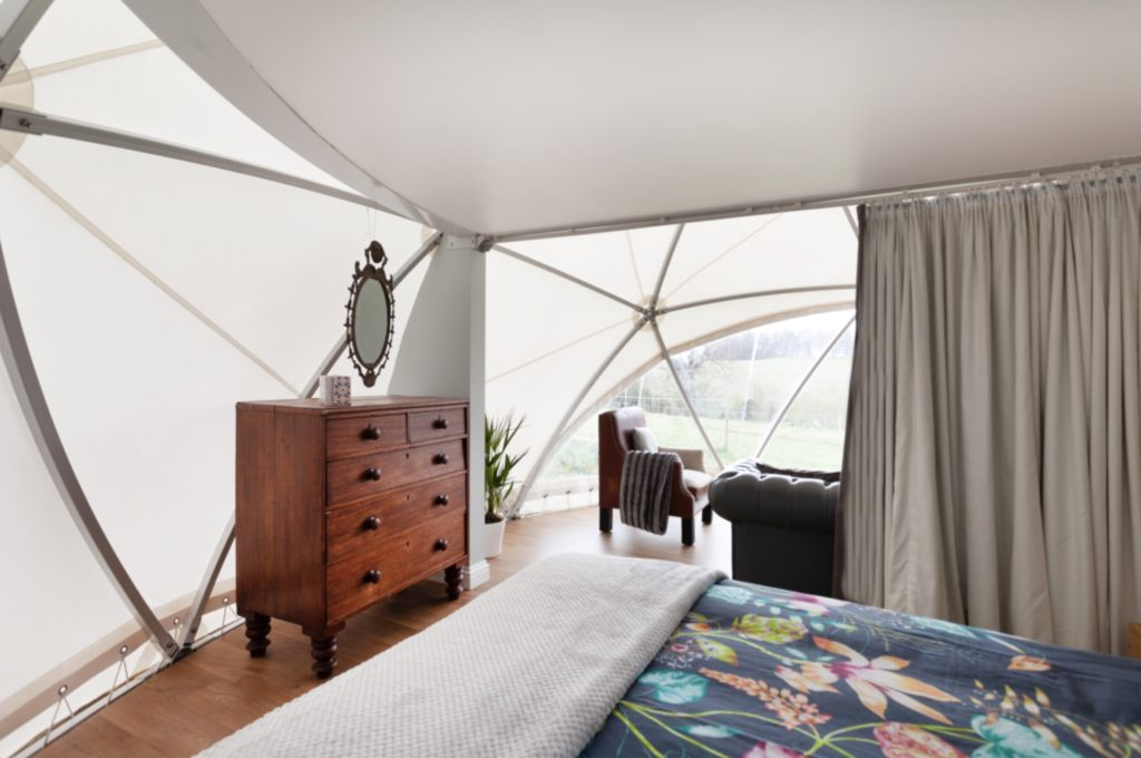 In the Stix Glamping Eco Dome Bedroom