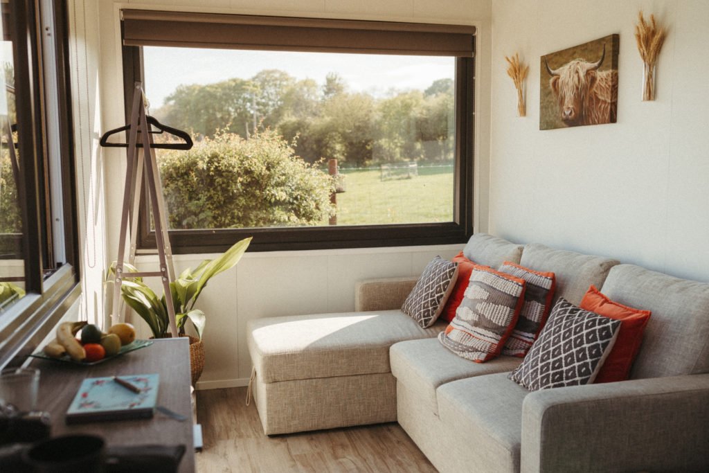 Trelan Farm Glamping Wales, Living Space