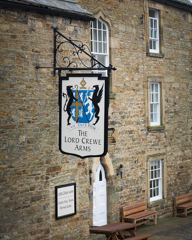 Lord Crewe Arms in Northumberland - pub sign