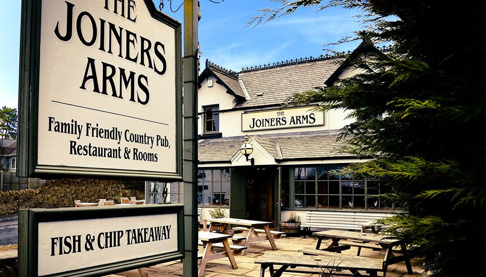 Joiners Arms in Northumberland, outside pub