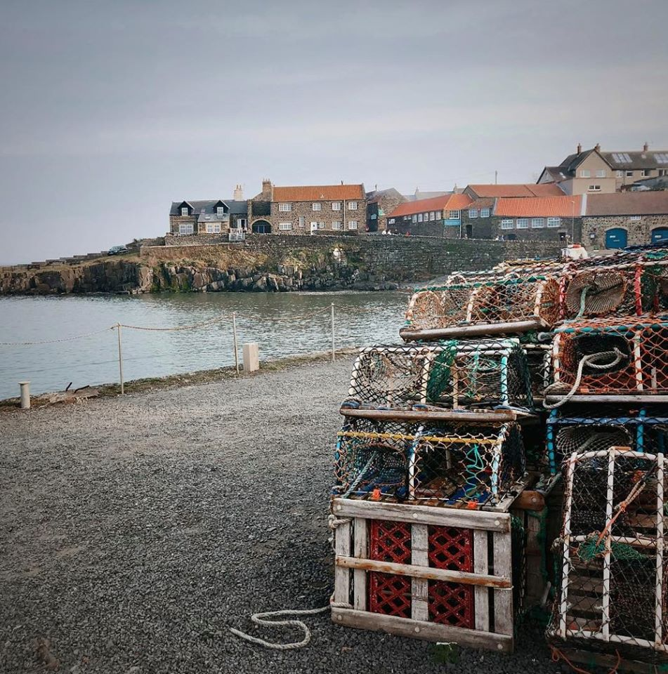 The Jolly Fisherman, Northumberland pub in Craster fishing nets