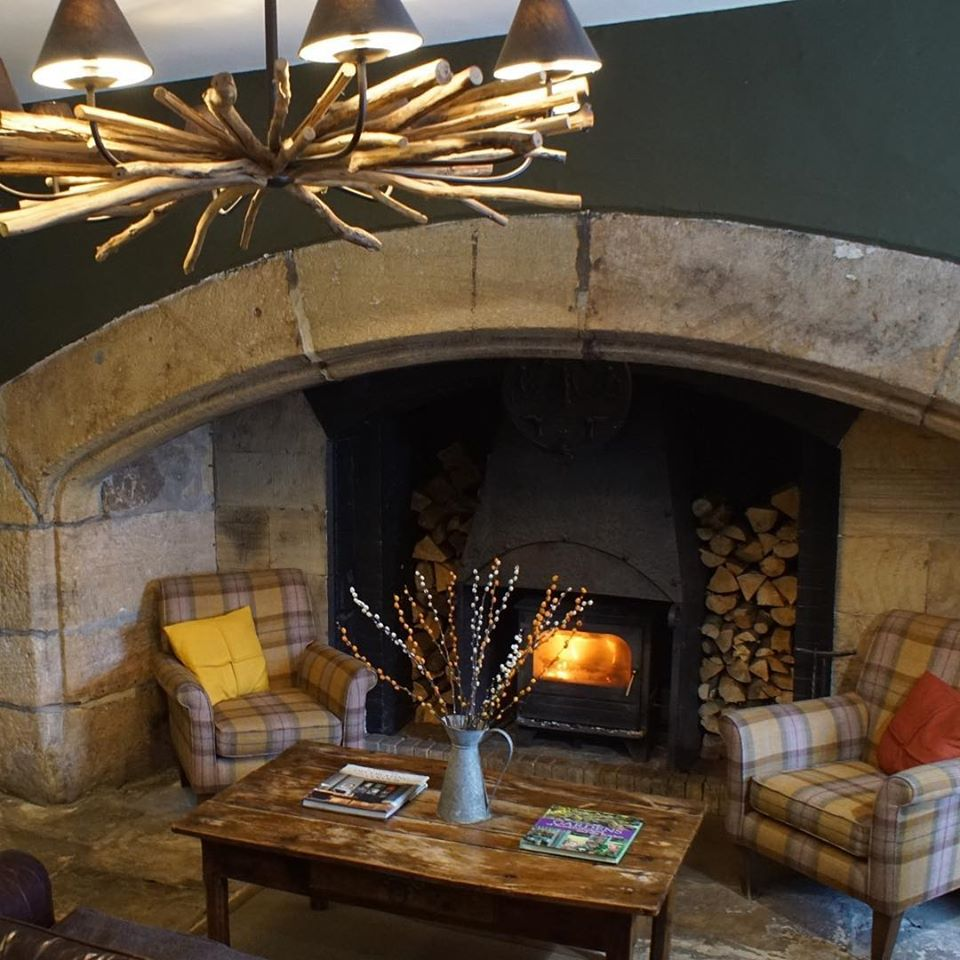 Lord Crewe Arms in Northumberland - inside fire