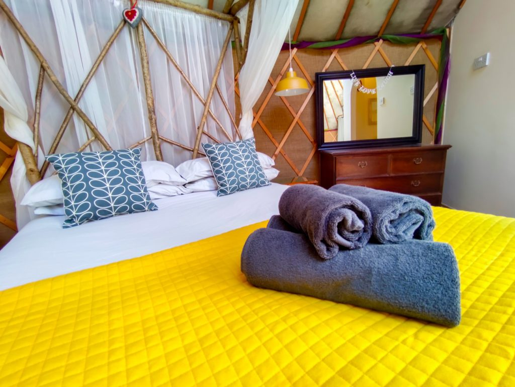 The Roundhouse HandCrafted Glamping Yurt in Somerset