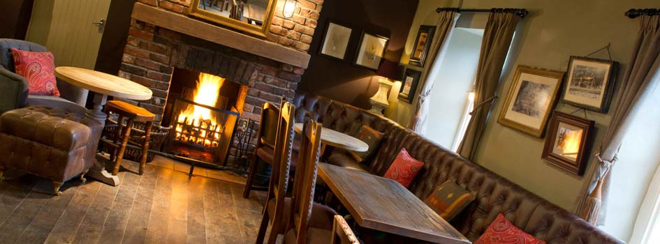 The Jolly Fisherman, Northumberland pub in Craster open fire inside