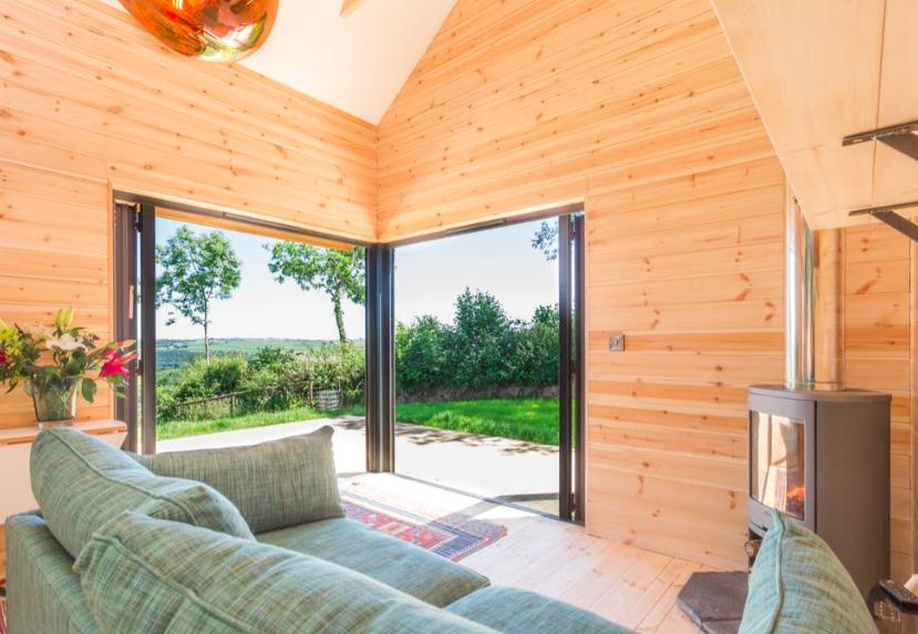 The Nap cabin in Exmoor Devon, lounge
