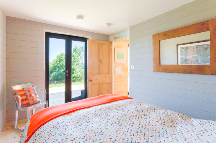 The Nap cabin in Exmoor Devon, bedroom
