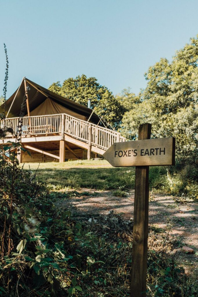 exe valley safari tent devon - foxes' earth safari tent