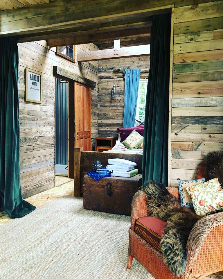 Albion Nights log cabin in norwich, norfolk - inside Bedroom