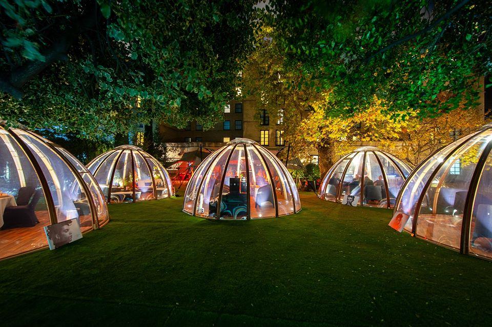 London Secret Garden pod from outside