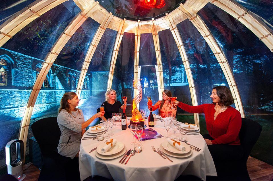 Ladies celebrating at the London Secret Garden