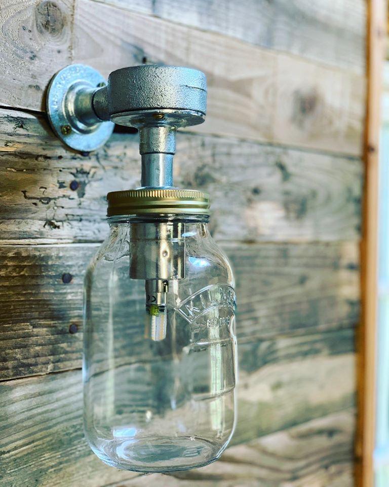 Albion Nights log cabin in norwich, norfolk - outside light
