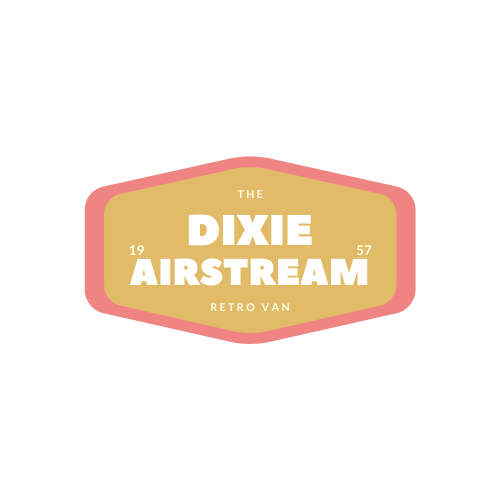 Dixie airstream retro van near lake windermere - logo