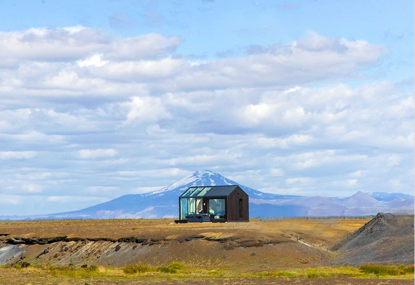 The Glass Cottages in Iceland - Outside