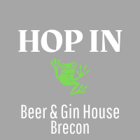 beer and gin house in brecon - Hop In logo