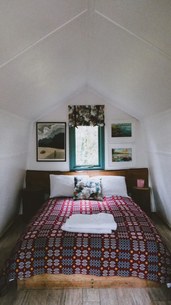 Cwtch camping timber cabins in pembrokshire - inside bed