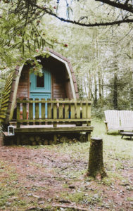 glamping pembrokeshire - outside of Ty Cwtch