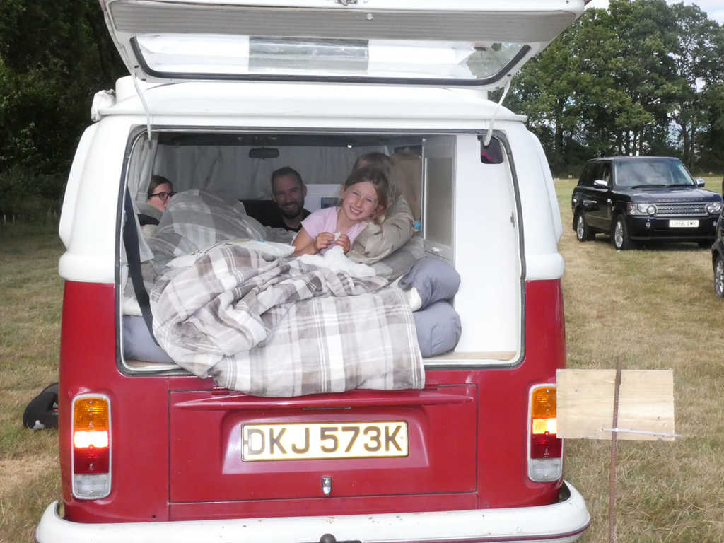 made in sussex festival in october- camping in VW camper