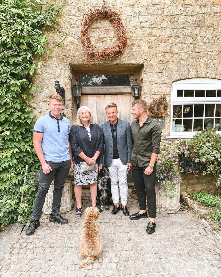 The Whitehead Family at the Outbuildings self-catering studios in Dorset