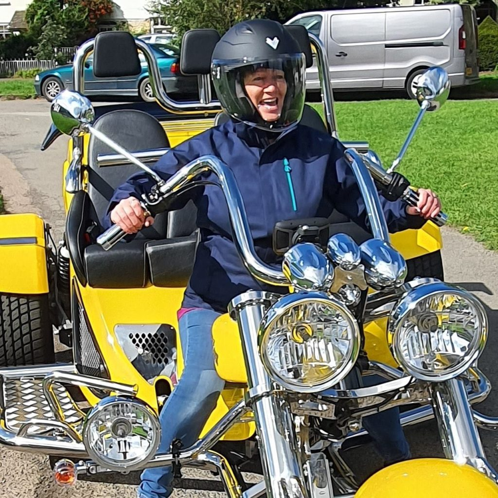 Chiltern Trike Tours Woman laughing