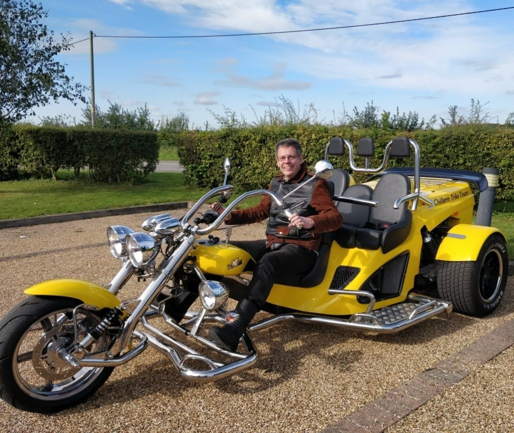 Chiltern Trike Tours Driver-Owner, Ash