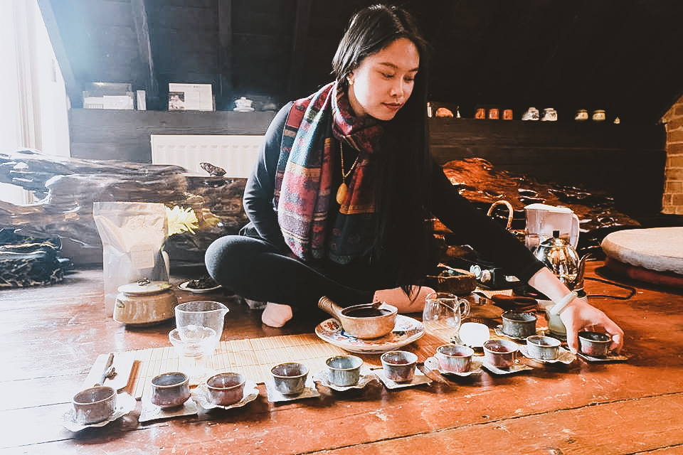 August Moon Tea House Cheltenham - Estelle Holding Tea Ceremony