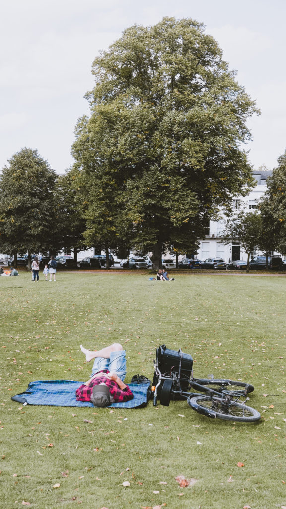 Cheltenham's Montpellier Park - person relaxing