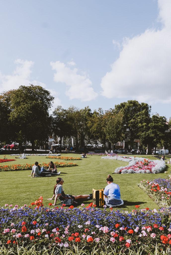 Cheltenham's Imperial Gardens Park - people relaxing