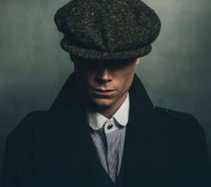 Man dressed as Thoma Shelby Peaky Blinder