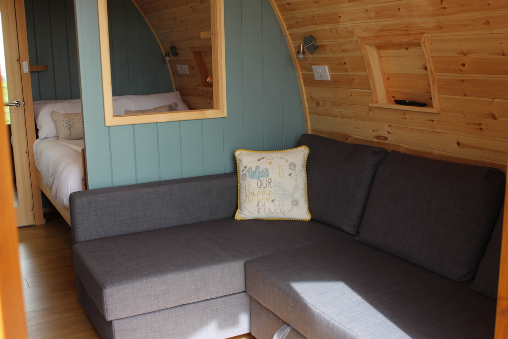 Sycamore glamping pods northumberland - inside living space