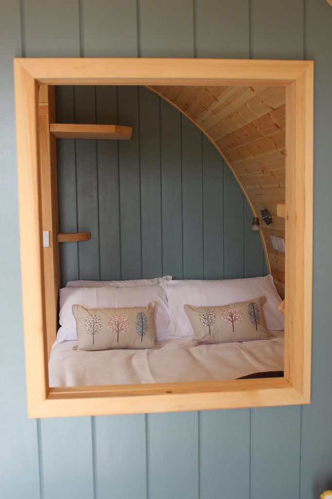 Sycamore glamping pods northumberland - inside bedroom