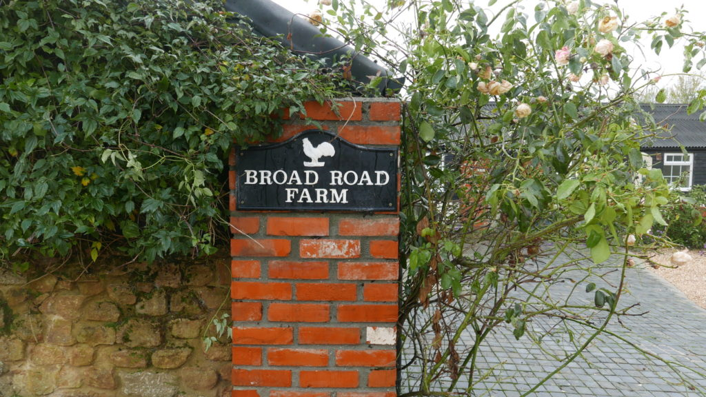 Broad Oak Farm sign at the Outbuildings self-catering studios in Dorset