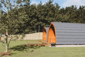 Sycamore glamping pods northumberland - exterior view