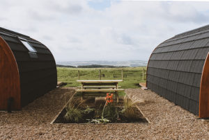 Sycamore glamping pods northumberland - back view