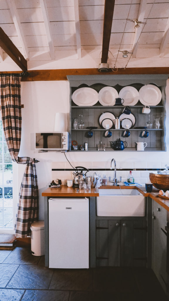 The Farrows kitchen at the Outbuildings self-catering studios in Dorset