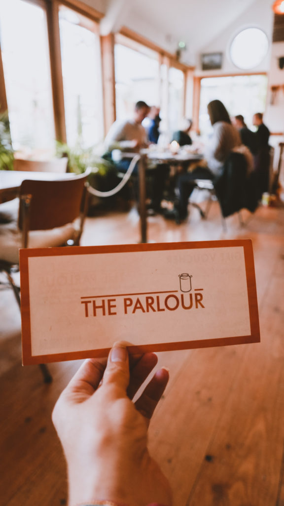 Voucher for The Parlour courtesy of at the Outbuildings self-catering studios in Dorset