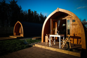Sycamore glamping pods northumberland - exterior view during day