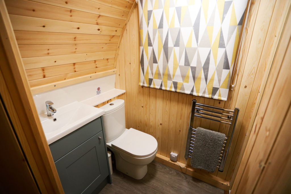 Sycamore glamping pods northumberland - interior view bathroom
