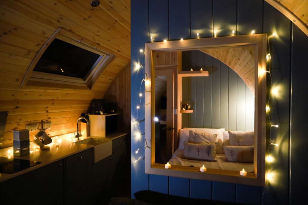 Sycamore glamping pods northumberland - interior view bedroom