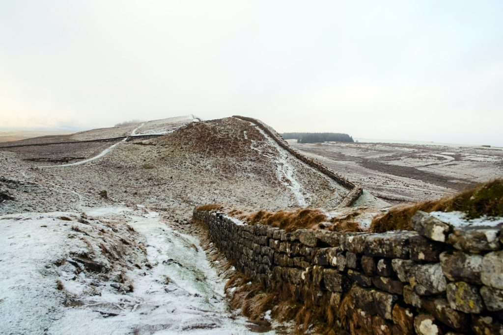 Hadrian's Wall in Northumberland -
