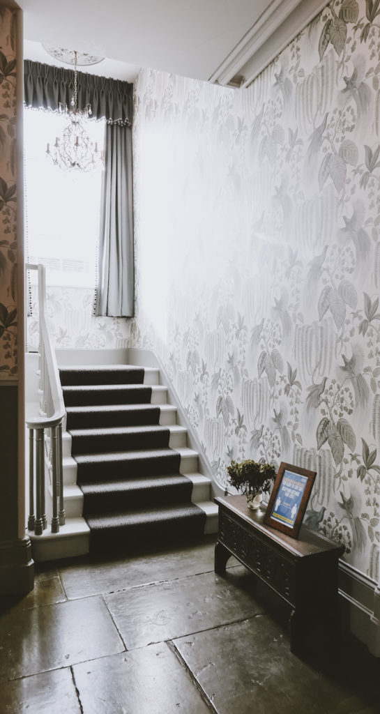 lemore manor coach house stairs to accommodation