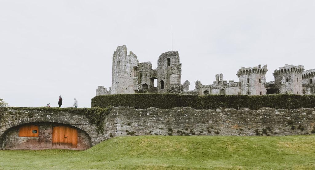 Raglan Castle in the wye Valley