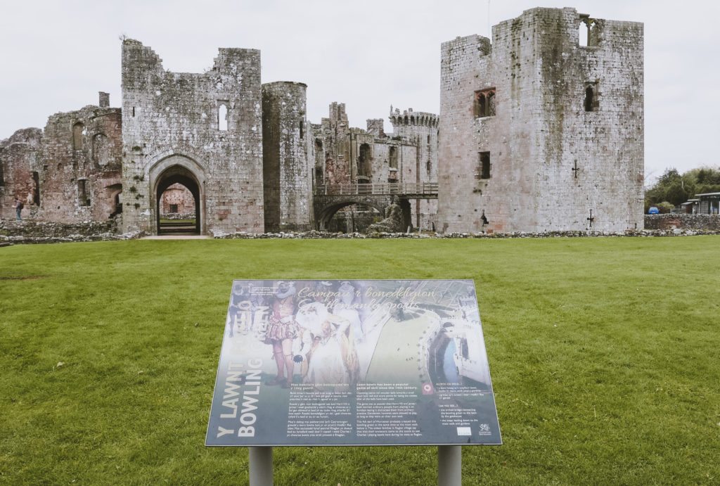 Raglan Castle in the wye Valley