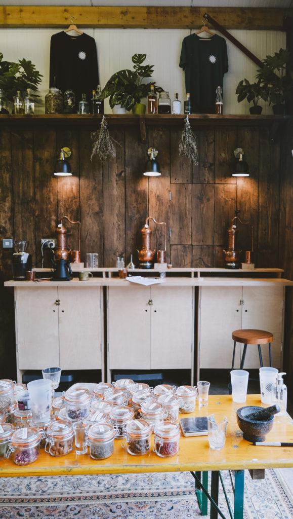 Silver Circle Distillery in the Wye Valley - inside distillery