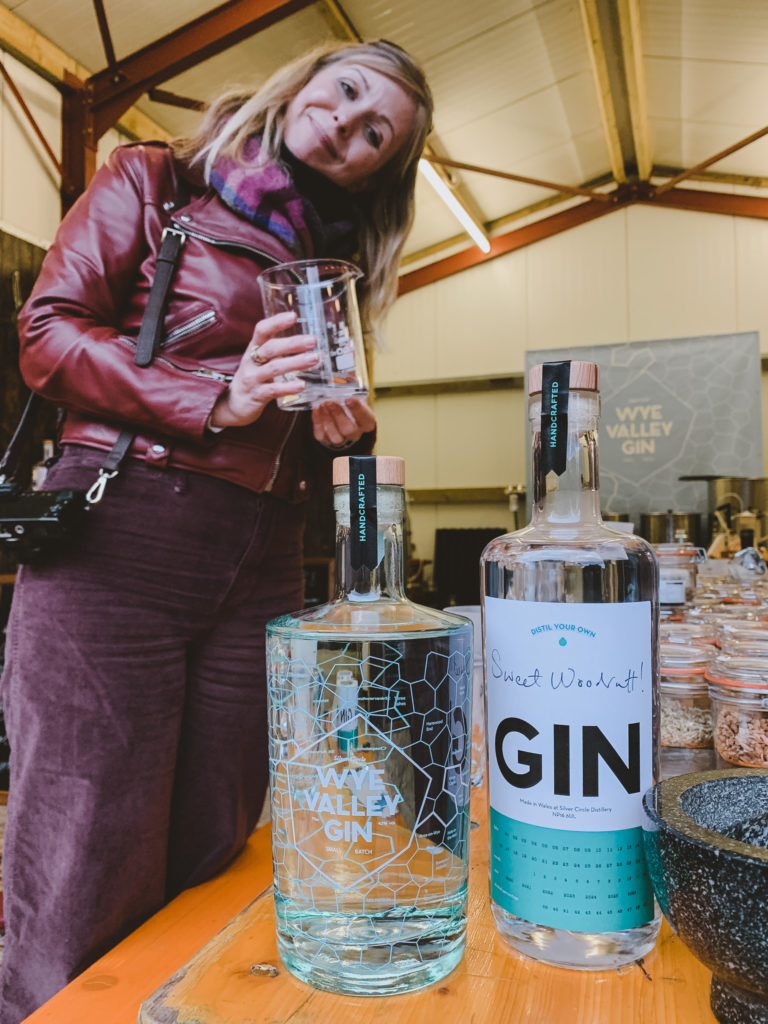 Silver Circle Distillery in the Wye Valley - gin after mixing class