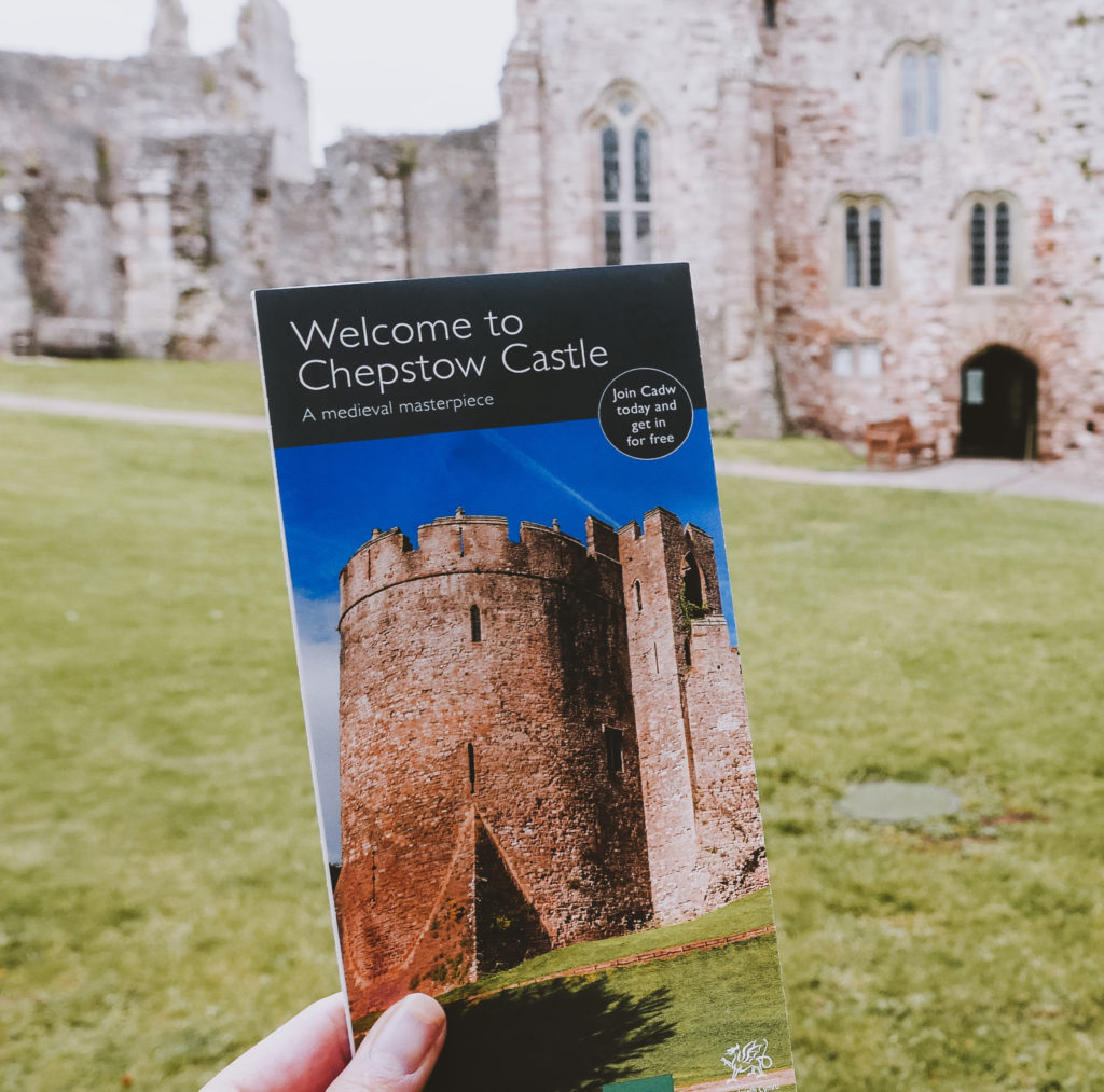 chepstow castle leaflet in in the wye valley