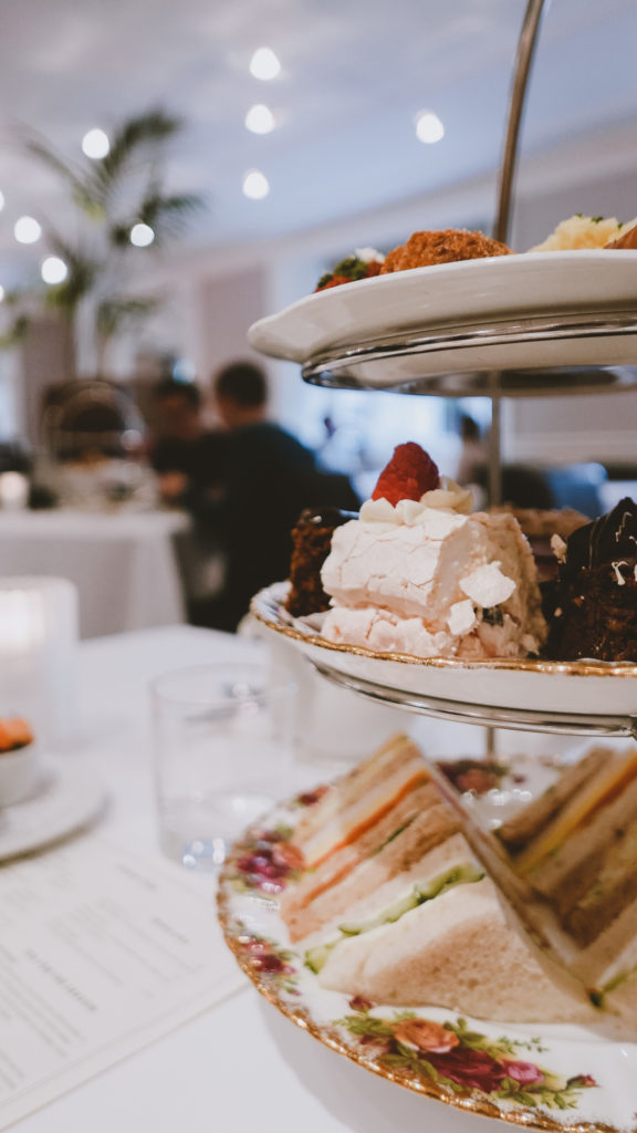 High Tea in The Angel Hotel in Abergavenny Wye Valley
