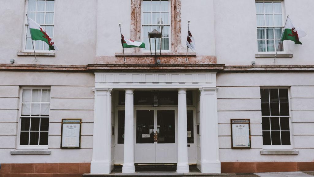 The Angel Hotel in Abergavenny Wye Valley