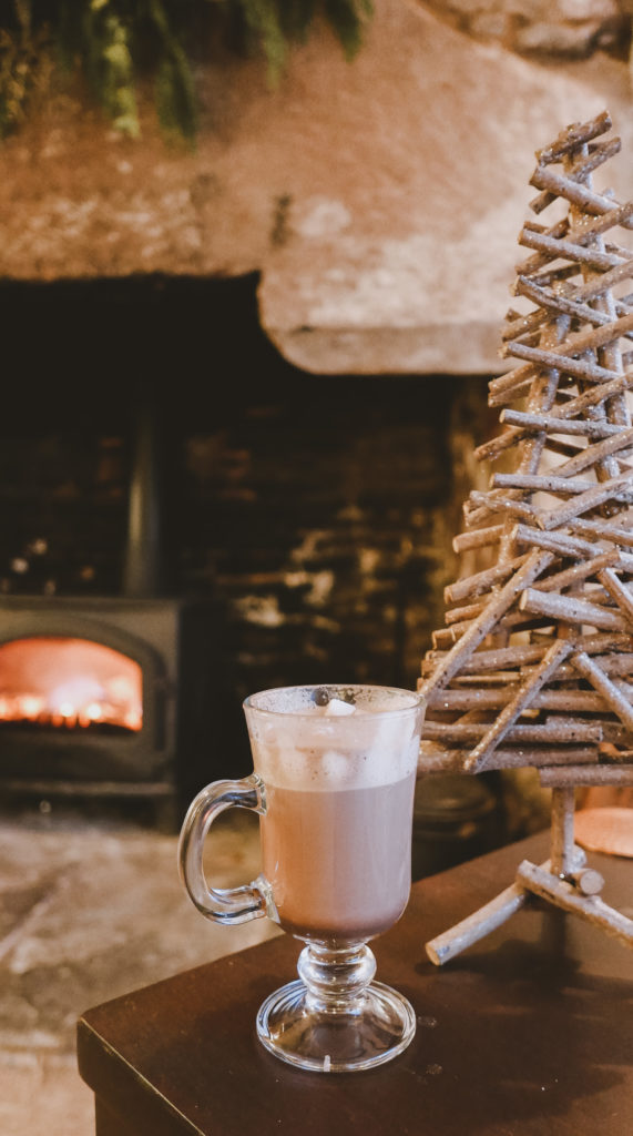 Tudor Farmhouse in the Forest of Dean - hot chocolate by fire