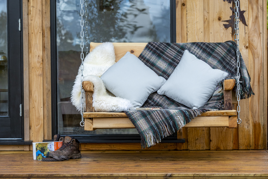 Forest of Dean Cabins at The Roost Glamping: love seat