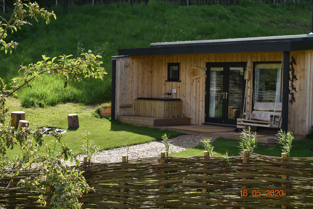 Forest of Dean Cabins at The Roost Glamping: the exterior daylight